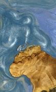 Amarillo - iPhone 11 Pro Max Wood+Resin Case - Amarillo (Light Blue, 109684)