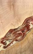 Angelina - iPhone 8 Plus Wood+Resin Case - Angelina (Dark Red, 114483)