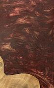 Annette - Pixel 3a XL Wood+Resin Case - Annette (Dark Red, 088685)