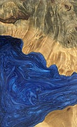 Ariadne - iPhone Xs Max Wood+Resin Case - Ariadne (Dark Blue, 092894)