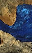 Aryn - iPhone Xs Max Wood+Resin Case - Aryn (Dark Blue, 070929)