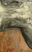 Athene - iPhone 7 Plus Wood+Resin Case - Athene (Black & White, 077794)