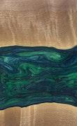 Aurora - iPhone 8 Plus Wood+Resin Case - Aurora (Dark Green, 113782)