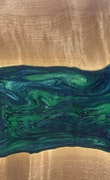 Aurora - Huawei Mate 20 Wood+Resin Case - Aurora (Dark Green, 113782)