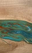Austin - iPhone 8 Wood+Resin Case - Austin (Teal & Gold, 114346)