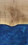 Aviva - iPhone X Wood+Resin Case - Aviva (Dark Blue, 116337)