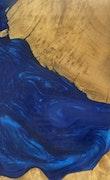 Bakersfield - iPhone 11 Pro Max Wood+Resin Case - Bakersfield (Dark Blue, 110355)