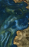Barrie - Pixel 3a Wood+Resin Case - Barrie (Light Blue, 079430)