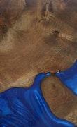 Brahmananda - iPhone Xs Wood+Resin Case - Brahmananda (Dark Blue, 113580)