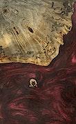 Bree - iPhone Xs Max Wood+Resin Case - Bree (Dark Red, 091223)