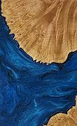 Calida - Pixel 3a Wood+Resin Case - Calida (Dark Blue, 077584)
