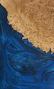 Carolina - Galaxy S9 Wood+Resin Case - Carolina (Dark Blue, 076319)