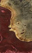 Catrina - iPhone Xs Max Wood+Resin Case - Catrina (Dark Red, 070787)