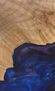 Christye - iPhone 11 Pro Max Wood+Resin Case - Christye (Blue & Red, 110874)