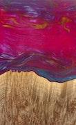 Clea - Pixel 3a XL Wood+Resin Case - Clea (Pink, 118041)