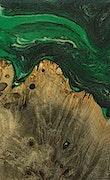 Cleo - Pixel 3a Wood+Resin Case - Cleo (Dark Green, 078025)
