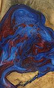 Danni - iPhone Xs Max Wood+Resin Case - Danni (Blue & Red, 091724)