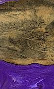 Denis - iPhone Xs Max Wood+Resin Case - Denis (Purple, 065238)