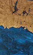 Denton - Pixel 3a Wood+Resin Case - Denton (Dark Blue, 075939)
