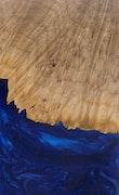 Dermot - Huawei Mate 20 Wood+Resin Case - Dermot (Dark Blue, 110730)