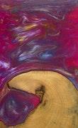 Djenana - Pixel 3a XL Wood+Resin Case - Djenana (Pink, 118043)