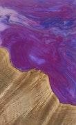 Donal - Huawei P20 Pro Wood+Resin Case - Donal (Purple, 118001)