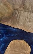 Doria - iPhone 11 Pro Max Wood+Resin Case - Doria (Dark Blue, 112108)