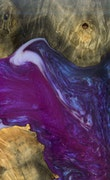 Durali - iPhone 11 Pro Max Wood+Resin Case - Durali (Purple, 117175)