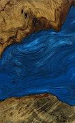 Ehi - Pixel 3a Wood+Resin Case - Ehi (Dark Blue, 079421)