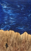 Emmeline - iPhone 8 Wood+Resin Case - Emmeline (Dark Blue, 116634)