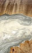 Enriqueta - iPhone 8 Plus Wood+Resin Case - Enriqueta (Black & White, 113196)