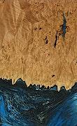 Fay - Pixel 3a Wood+Resin Case - Fay (Light Blue, 078967)