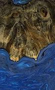 Felicle - iPhone Xs Max Wood+Resin Case - Felicle (Dark Blue, 071006)