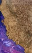 Florence - Huawei Mate 20 Wood+Resin Case - Florence (Purple, 114311)