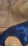 Frederika - Huawei Mate 20 Wood+Resin Case - Frederika (Dark Blue, 112112)