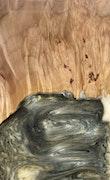 Fresno - Pixel 3a XL Wood+Resin Case - Fresno (Black & White, 117956)