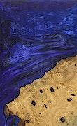 Gama - iPhone Xs Max Wood+Resin Case - Gama (Dark Blue, 091297)