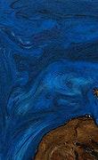 Gavra - iPhone 7 Plus Wood+Resin Case - Gavra (Dark Blue, 077292)