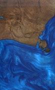 Heloise - iPhone 11 Pro Max Wood+Resin Case - Heloise (Dark Blue, 113577)
