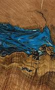 Honoria - Pixel 3a Wood+Resin Case - Honoria (Light Blue, 078926)