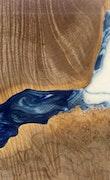 Hoog - iPhone 8 Wood+Resin Case - Hoog (Light Blue, 115010)