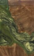 Ivette - Galaxy Note 8 Wood+Resin Case - Ivette (Dark Green, 117570)