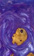 Jacynthe - iPhone 11 Pro Max Wood+Resin Case - Jacynthe (Purple, 108974)