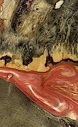 Jaymee - iPhone Xs Max Wood+Resin Case - Jaymee (Dark Red, 091694)