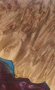 Johan - iPhone 8 Plus Wood+Resin Case - Johan (Blue & Red, 113016)