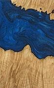Johanna - Pixel 3a Wood+Resin Case - Johanna (Dark Blue, 078596)