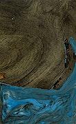 Josanne - iPhone Xs Max Wood+Resin Case - Josanne (Light Blue, 070561)