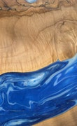 Kaela - iPhone 8 Plus Wood+Resin Case - Kaela (Light Blue, 113656)