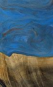 Karam - iPhone 7 Plus Wood+Resin Case - Karam (Blue & Red, 068472)
