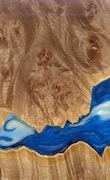 Kjell - Huawei Mate 20 Wood+Resin Case - Kjell (Light Blue, 113921)